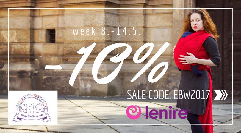 Lenire sleva 10% Evropský týden nošení dětí